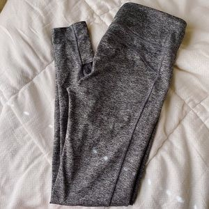 women's heather grey leggings